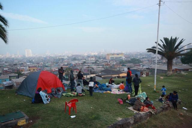 Algunas familias llegaron a las alturas de Iquique.