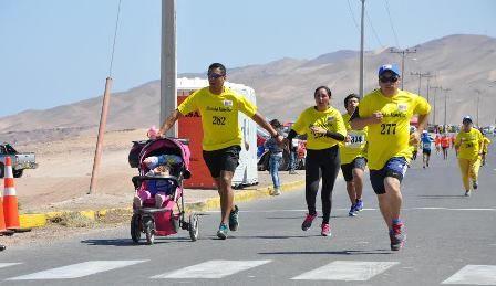 La guaguita  presente en la Maraton.