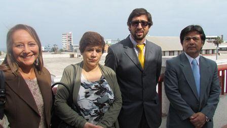Marina Delgado, Gloria Begaso, Alejandro Arriagada y Américo Silva.