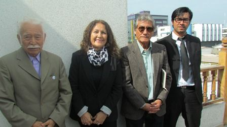 Hugo Bolívar, Rosa Biagetti, Luis Cortés y Enzo Alvear.
