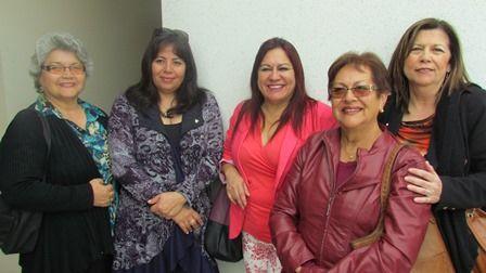 Ruth Rabello, Gloria Molina, Arline Oro, Elisa Mendoza y María Soledad Valenzuela.