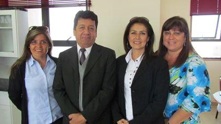 Laura Chacón, Andrés Lobos, Marcela Alonso y Patricia Rojas.