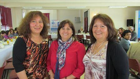 Mandiza Yovich, Margarita Meyer y Mónica Aqueveque.