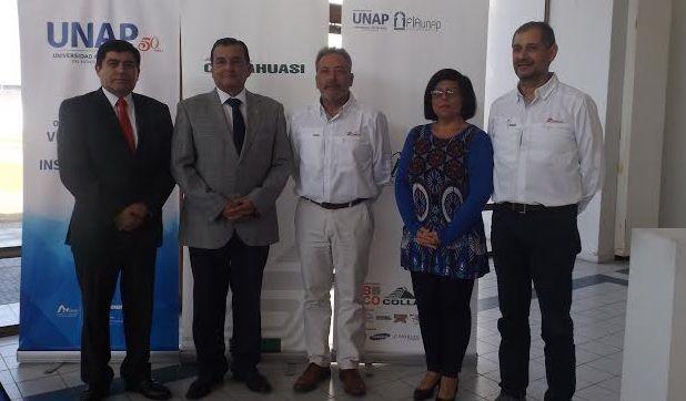 Unap y Collahuasi firman convenio de trabajo para crear una línea de investigación