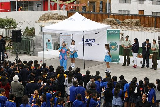 Campaña Eleva tú volantín más allá del cielo:   Más de 300 estudiantes juntos a Carabineros y Eliqsa participan en actividad de seguridad