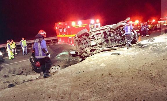 Un fallecido y cuatro heridos en accidente de tránsito en la ruta Alto Hospicio-Pozo Almonte
