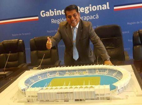 """Rubén Berríos, presidente comisión Deportes del Gobierno Regional: """"Comenzó la cuenta regresiva para tener el nuevo estadio el 2019"""""""