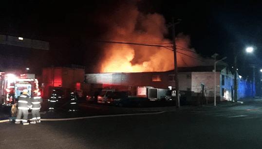 Incendio en recinto amurallado de  Zofri